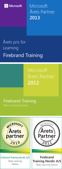 Nordics Firebrand Microsoft Learning partner of the year 2012 award